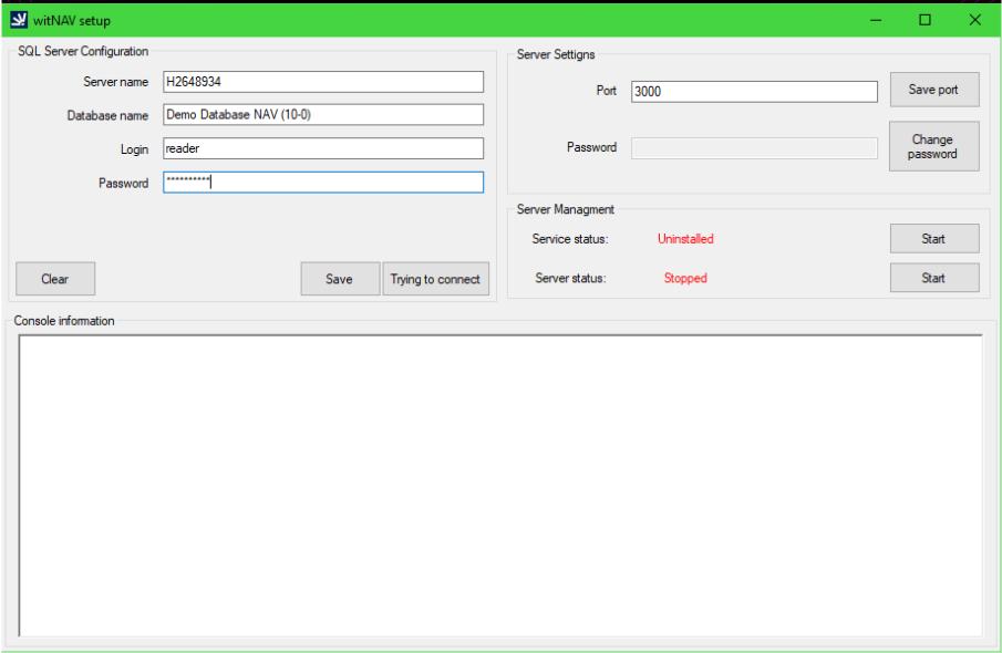 Configure witNAV setup